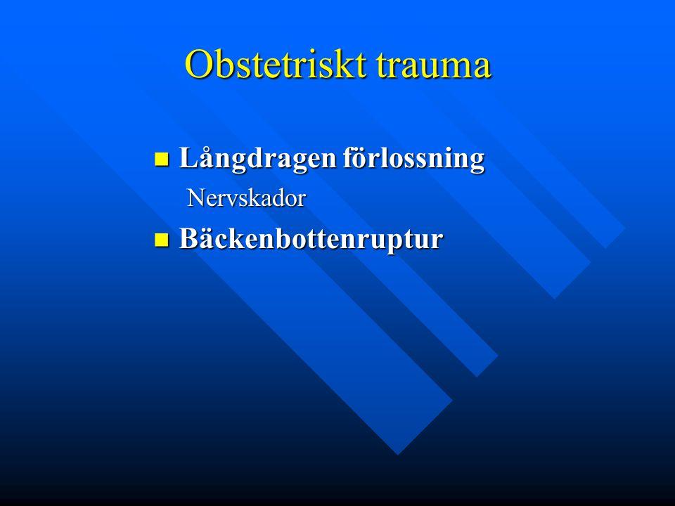 Obstetriskt trauma Långdragen förlossning Bäckenbottenruptur