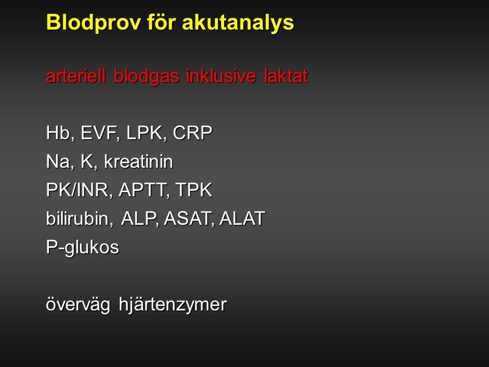 Blodprov för akutanalys