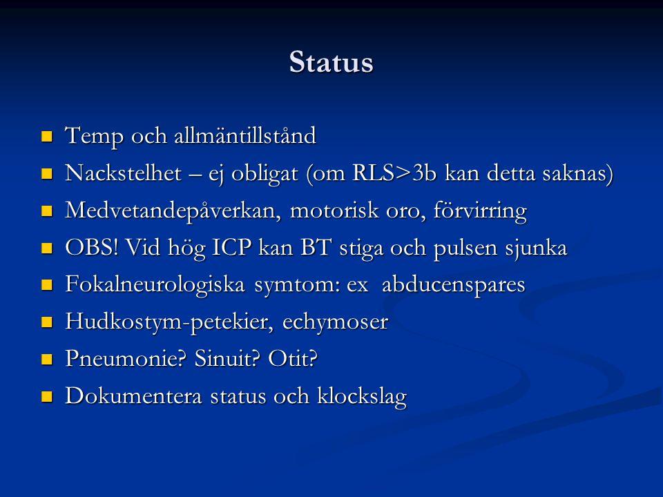 Status Temp och allmäntillstånd