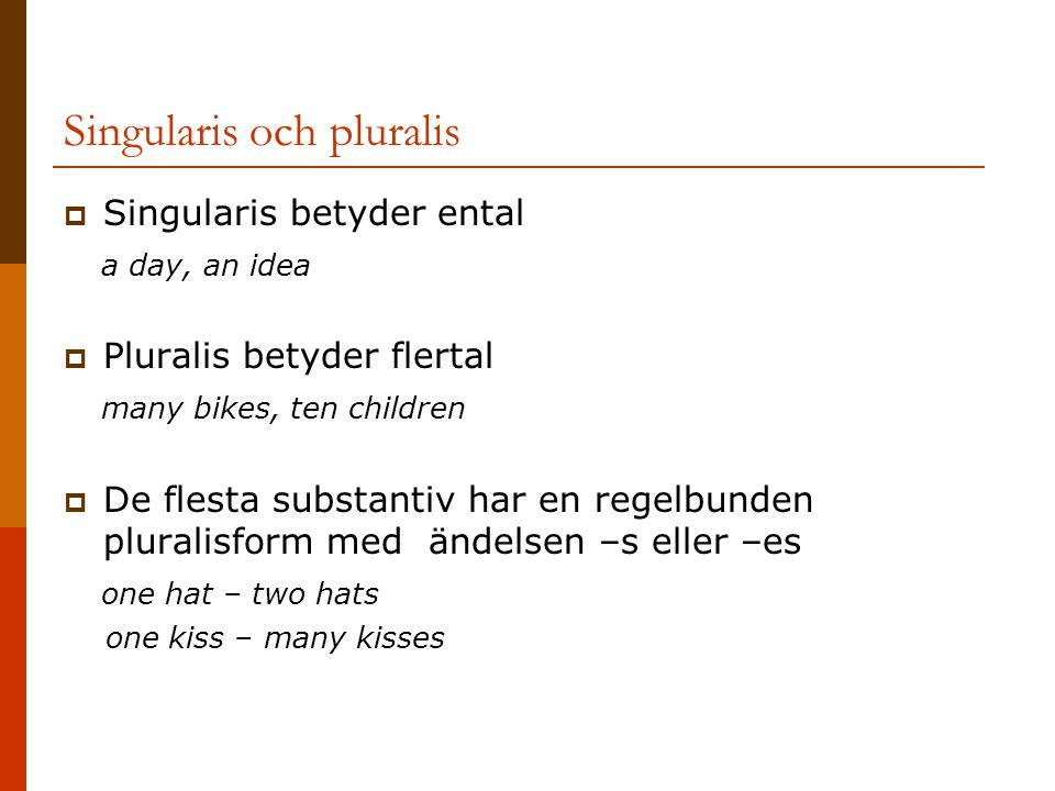 Singularis och pluralis