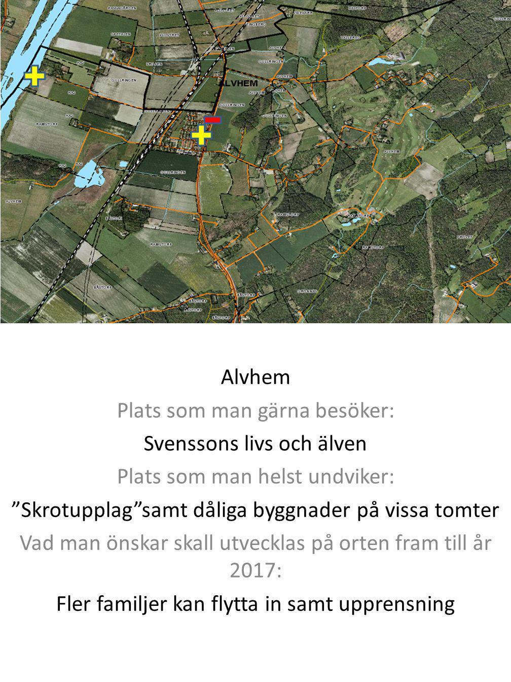 Plats som man gärna besöker: Svenssons livs och älven