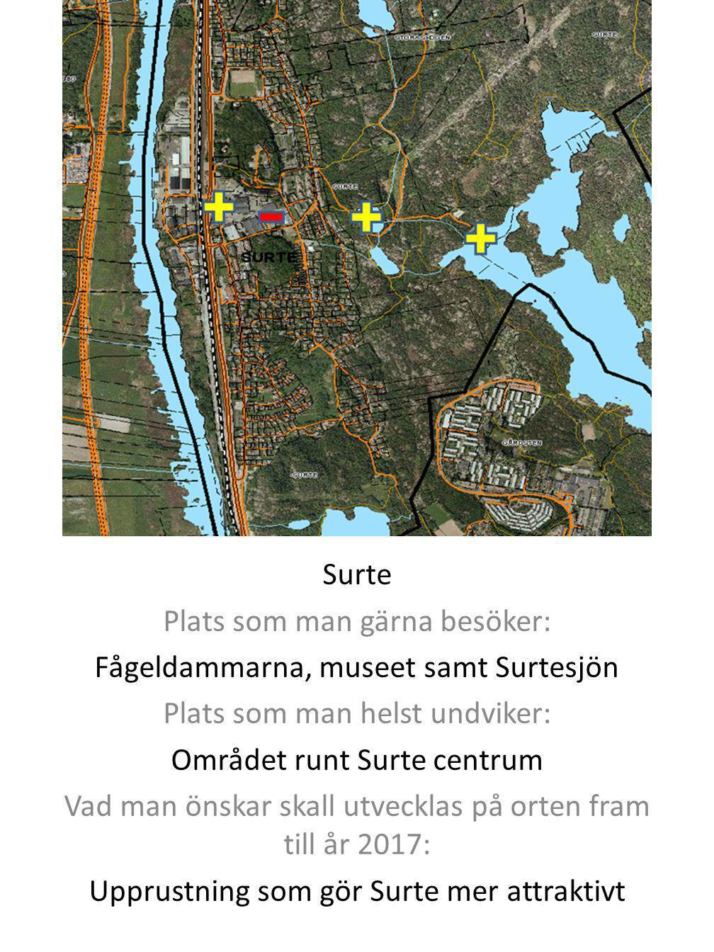 Plats som man gärna besöker: Fågeldammarna, museet samt Surtesjön