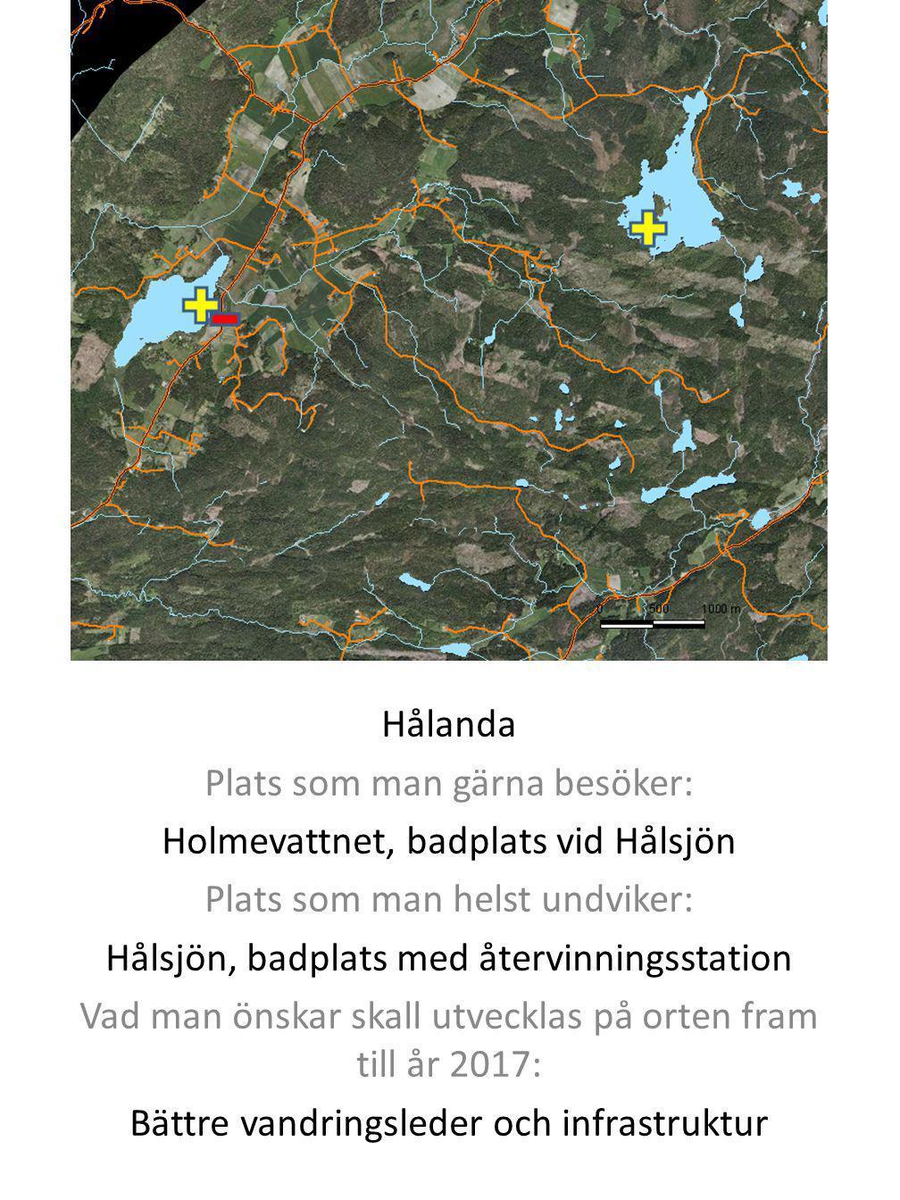 Plats som man gärna besöker: Holmevattnet, badplats vid Hålsjön