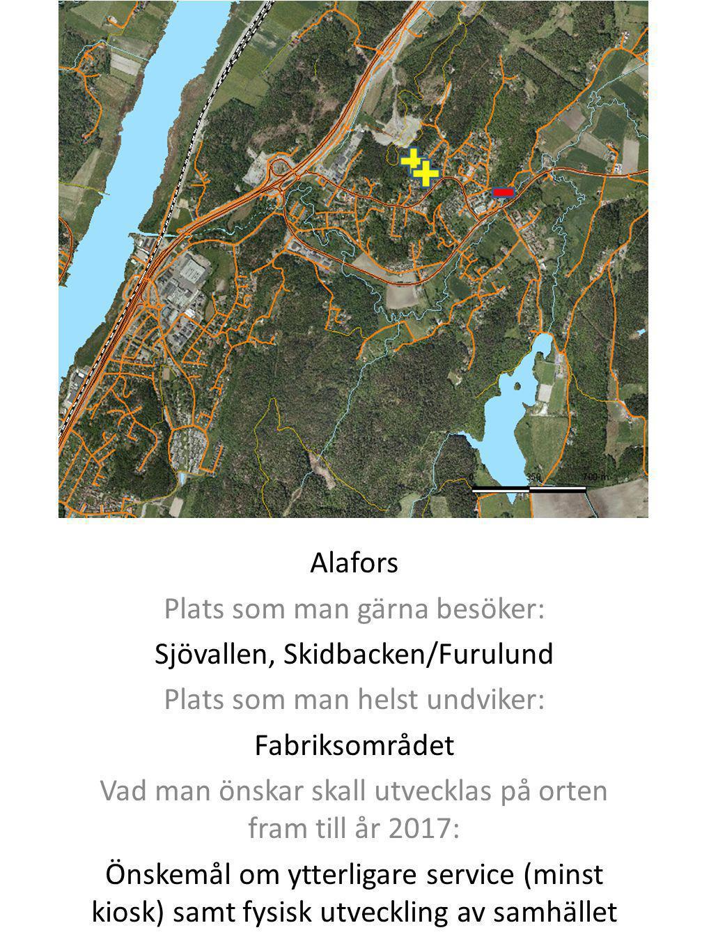 Plats som man gärna besöker: Sjövallen, Skidbacken/Furulund