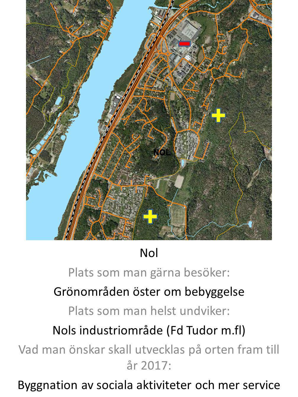 Plats som man gärna besöker: Grönområden öster om bebyggelse