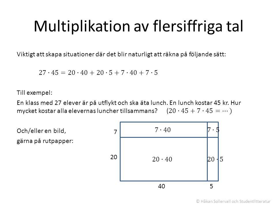 Multiplikation av flersiffriga tal