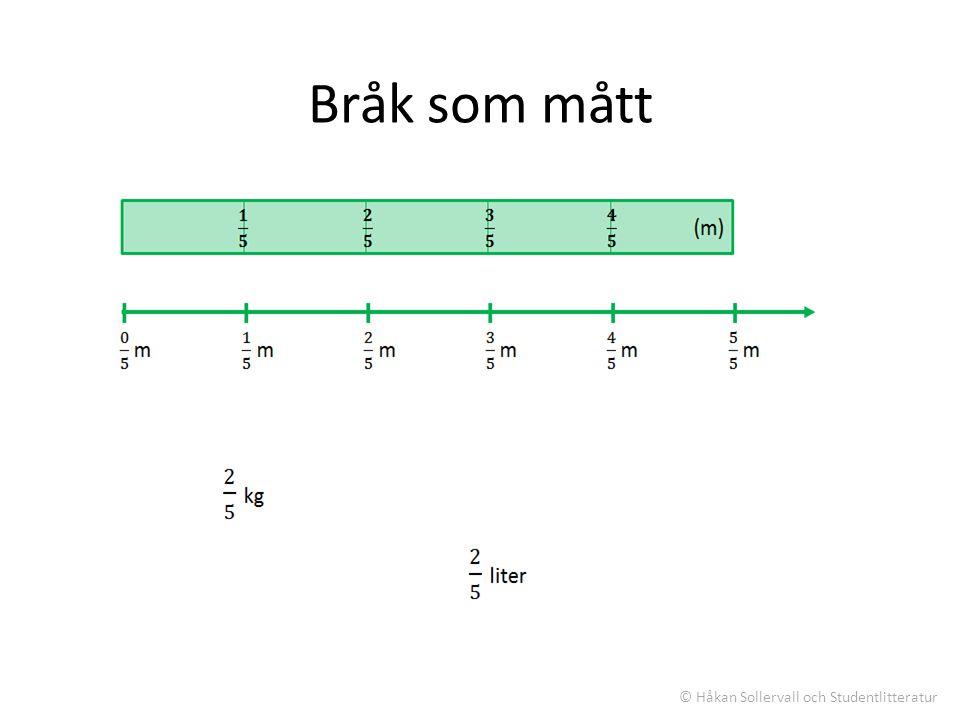 Bråk som mått © Håkan Sollervall och Studentlitteratur