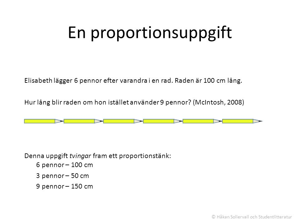 En proportionsuppgift