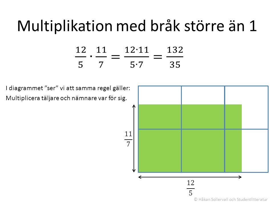 Multiplikation med bråk större än 1
