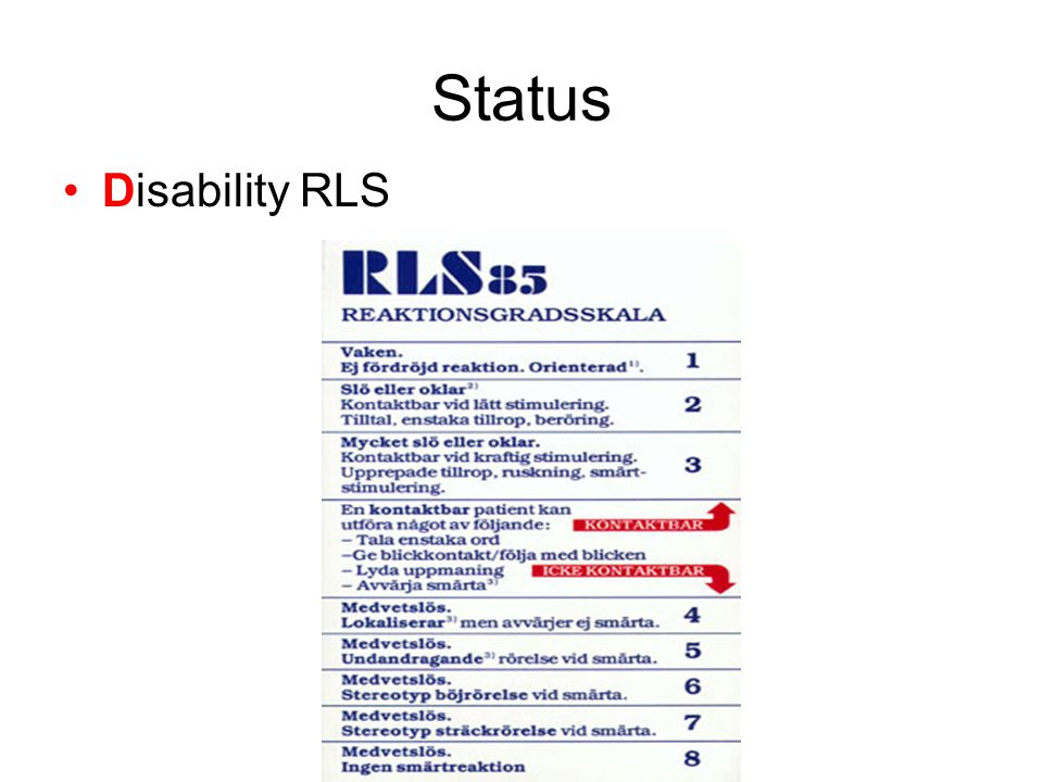 Status Disability RLS