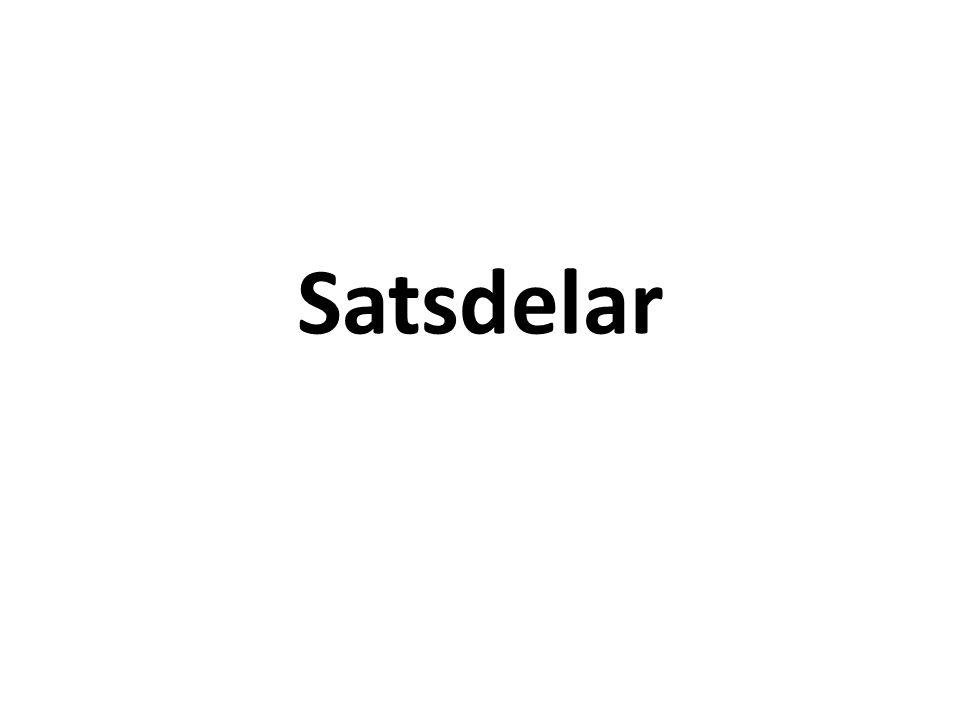 Satsdelar