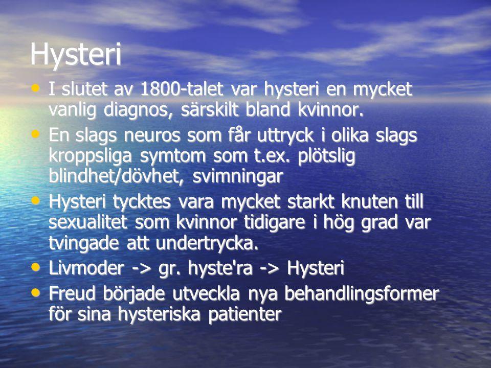 Hysteri I slutet av 1800-talet var hysteri en mycket vanlig diagnos, särskilt bland kvinnor.