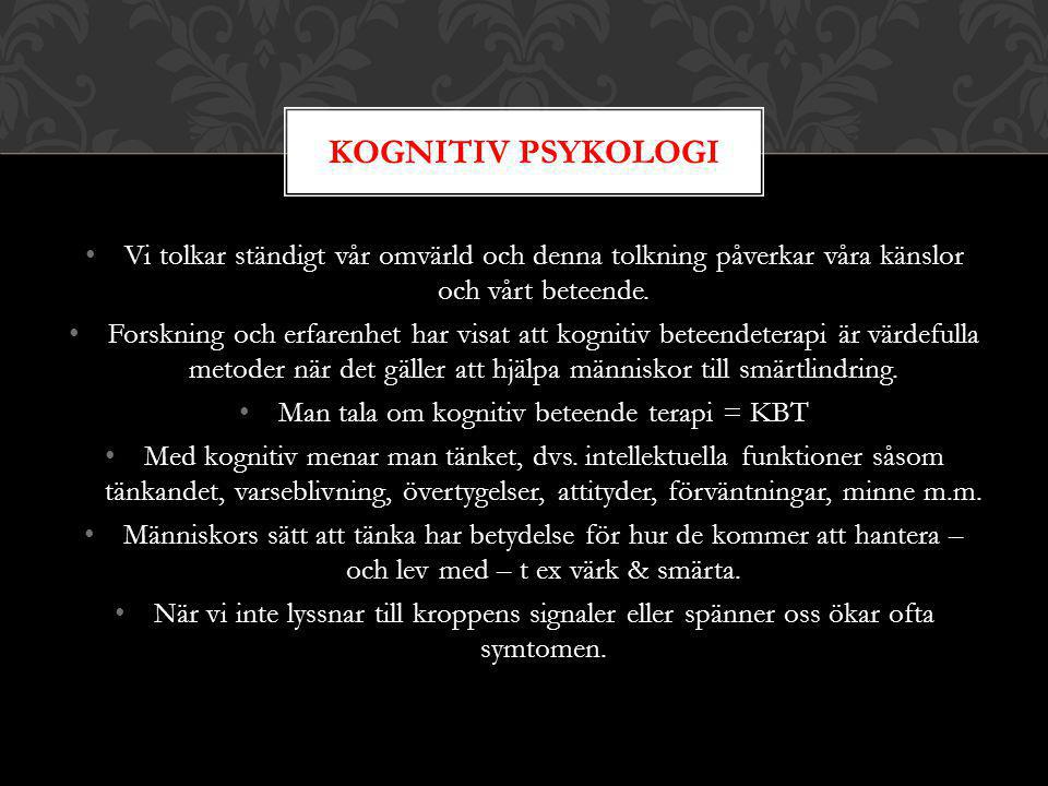Man tala om kognitiv beteende terapi = KBT