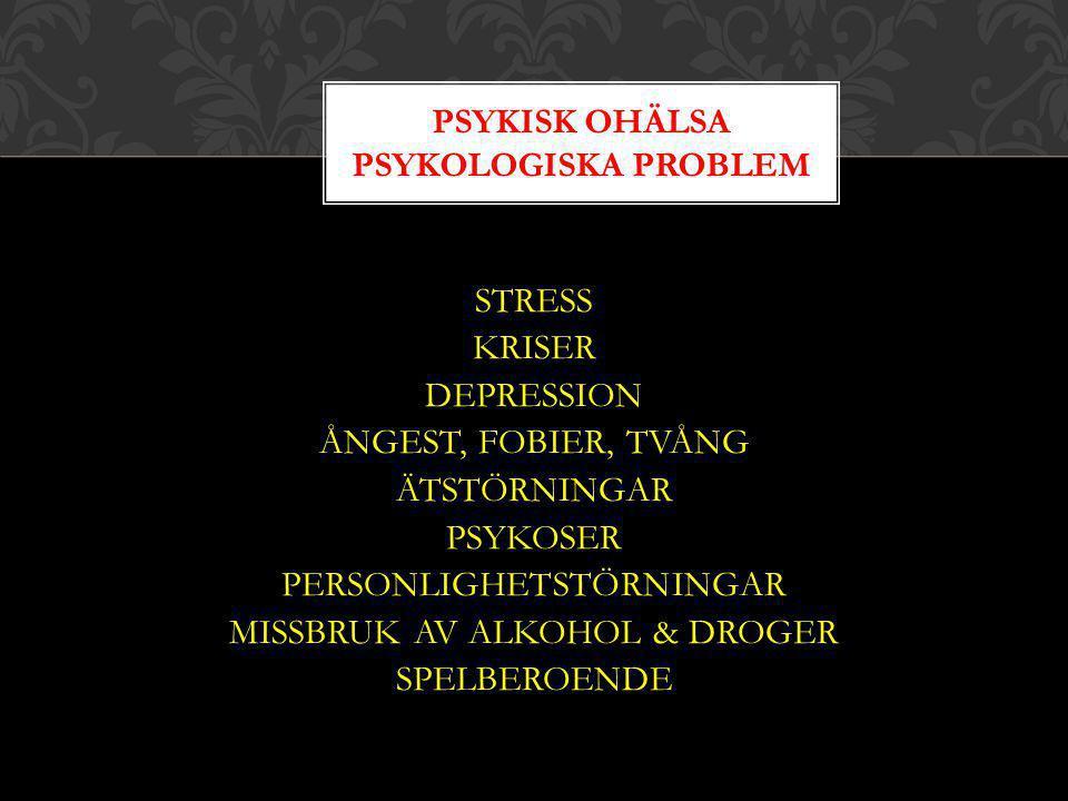 Psykisk ohälsa psYKOLOGISKA PROBLEM