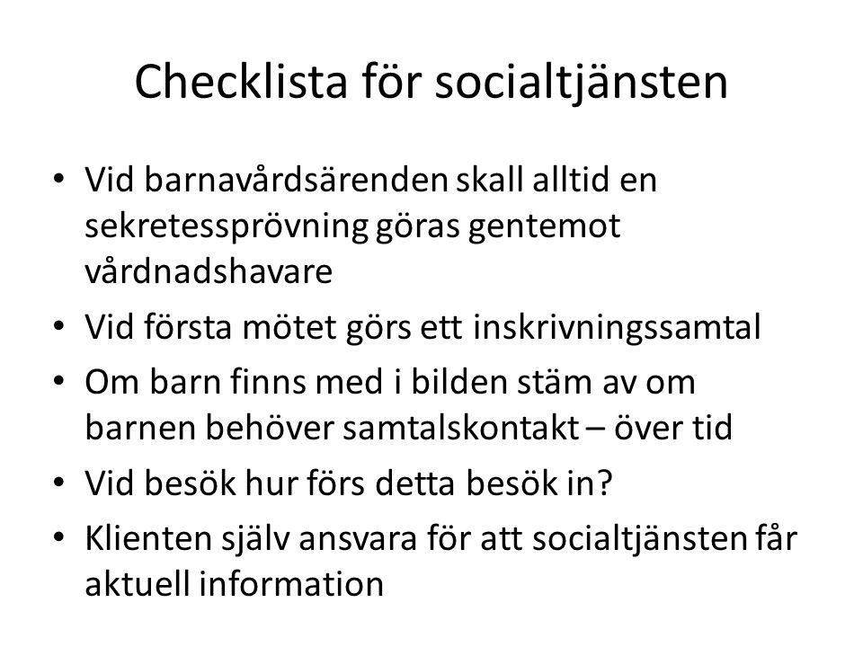 Checklista för socialtjänsten