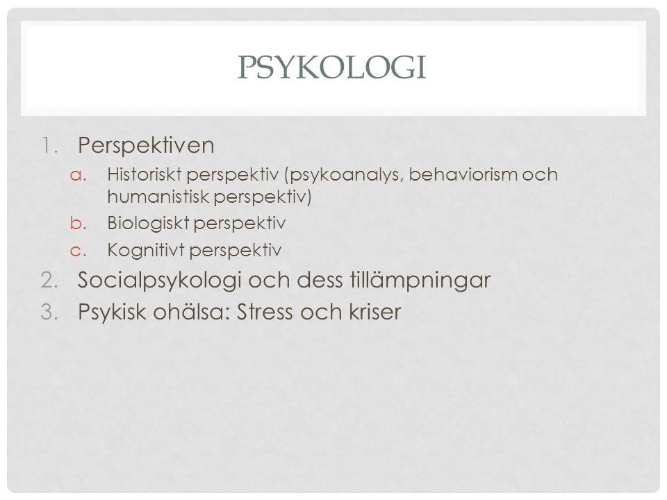 Psykologi Perspektiven Socialpsykologi och dess tillämpningar
