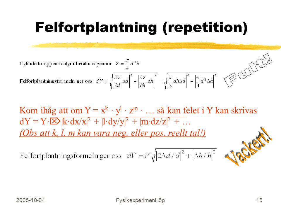 Felfortplantning (repetition)