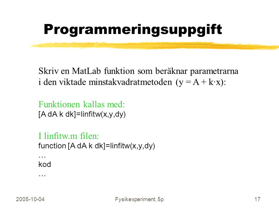 Programmeringsuppgift
