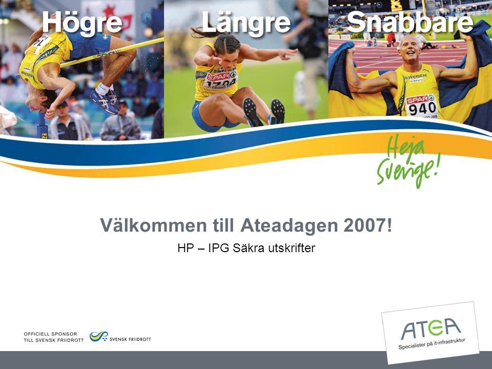 Välkommen till Ateadagen 2007!