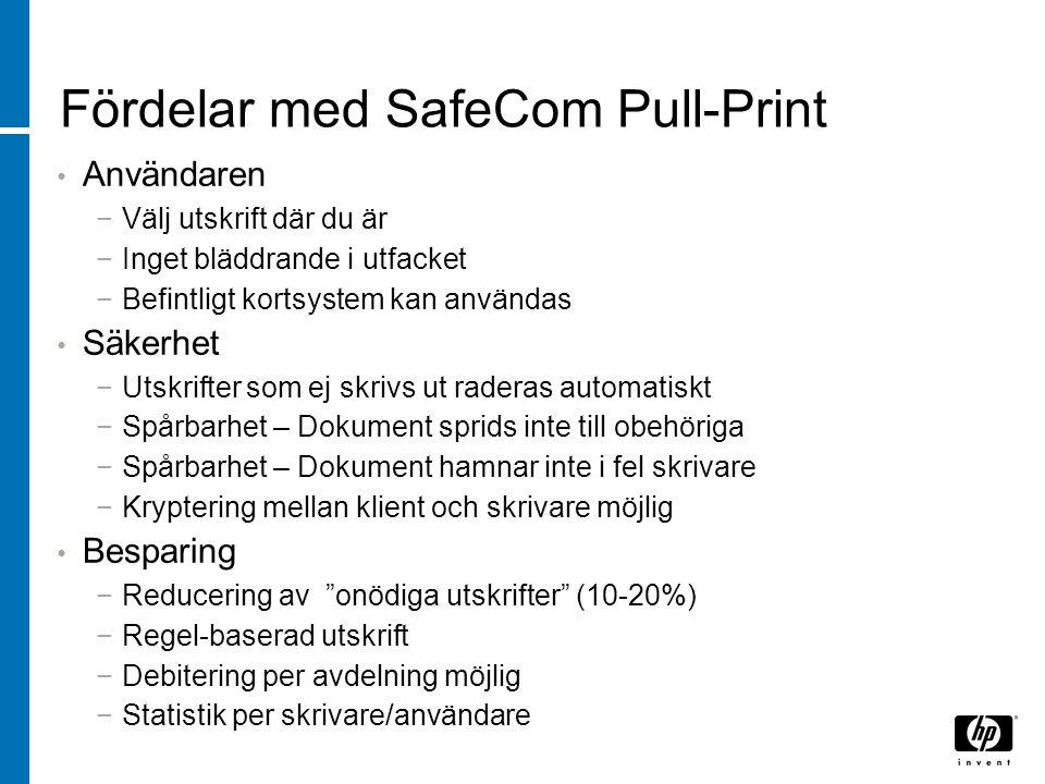 Fördelar med SafeCom Pull-Print