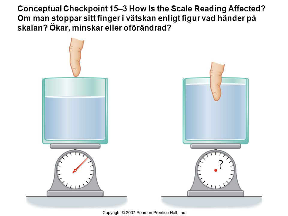 Conceptual Checkpoint 15–3 How Is the Scale Reading Affected