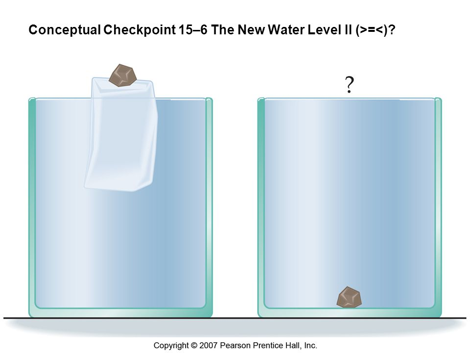 Conceptual Checkpoint 15–6 The New Water Level II (>=<)
