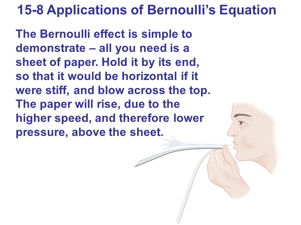 15-8 Applications of Bernoulli's Equation