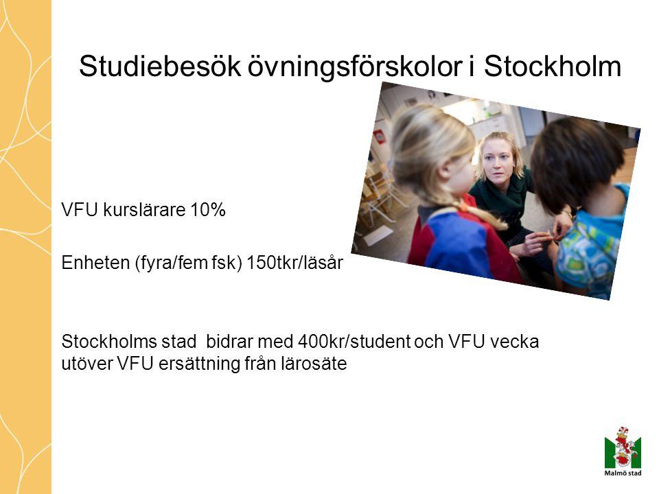 Studiebesök övningsförskolor i Stockholm