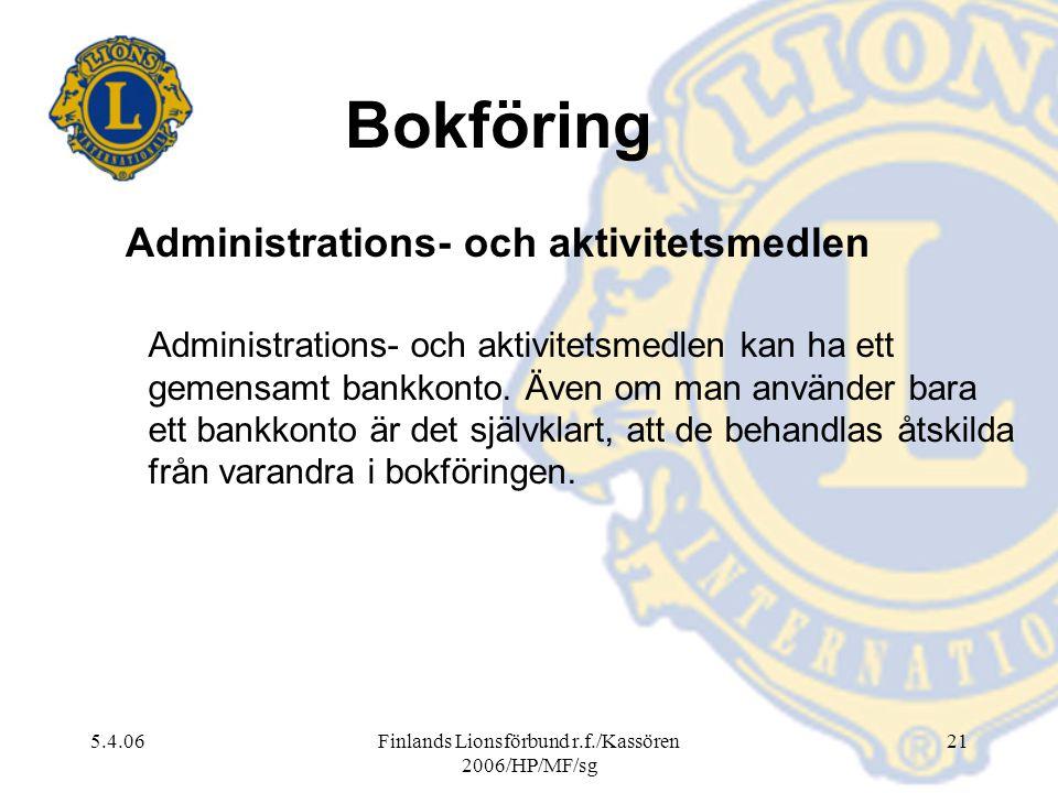 Administrations- och aktivitetsmedlen