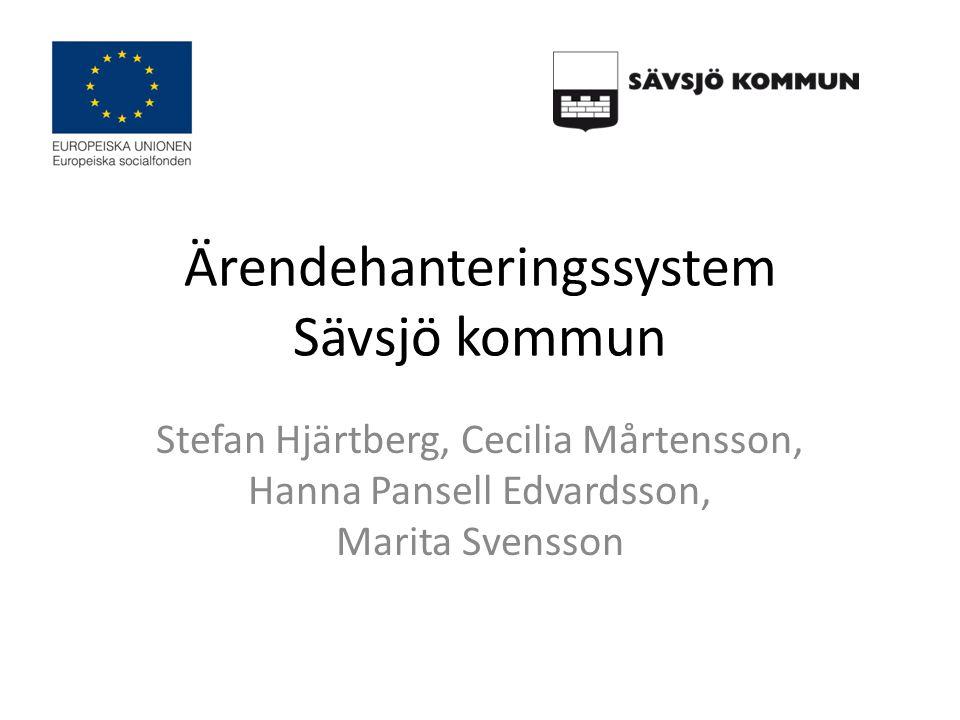 Ärendehanteringssystem Sävsjö kommun