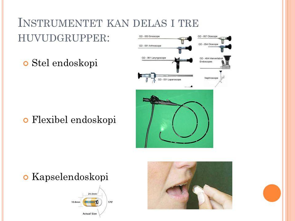 Instrumentet kan delas i tre huvudgrupper: