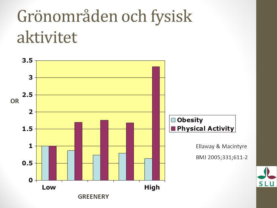 Grönområden och fysisk aktivitet
