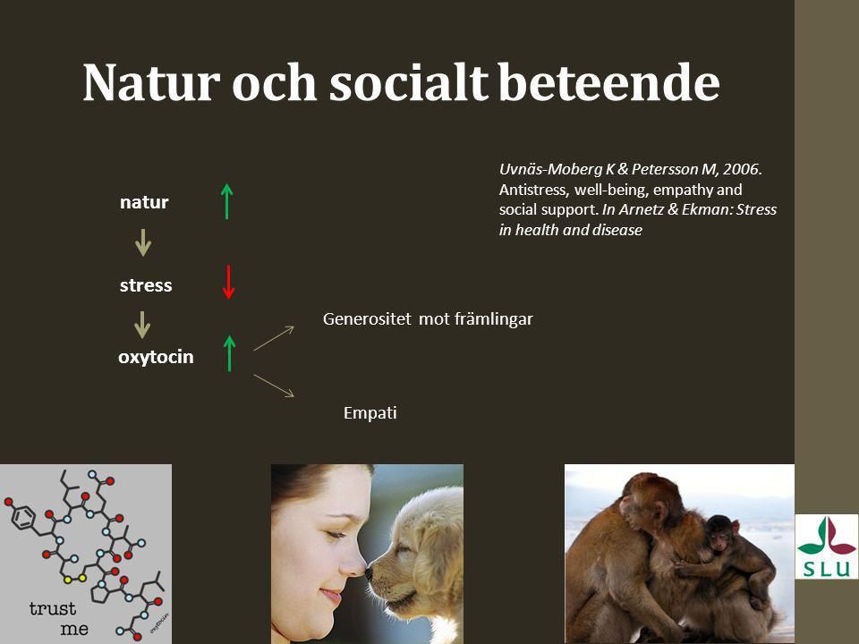 Natur och socialt beteende