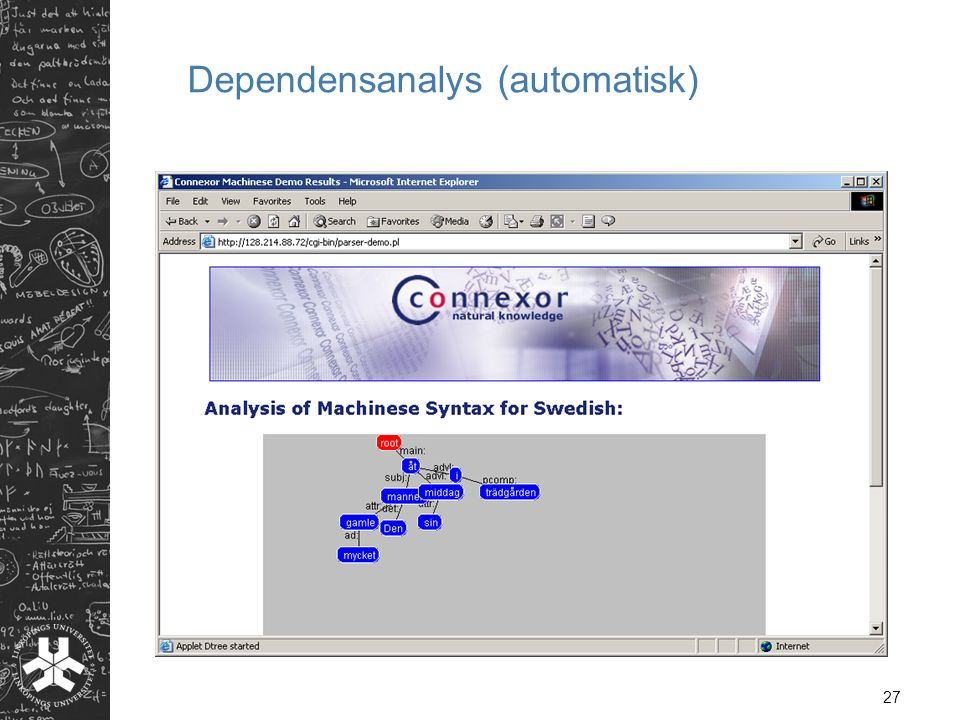 Dependensanalys (automatisk)
