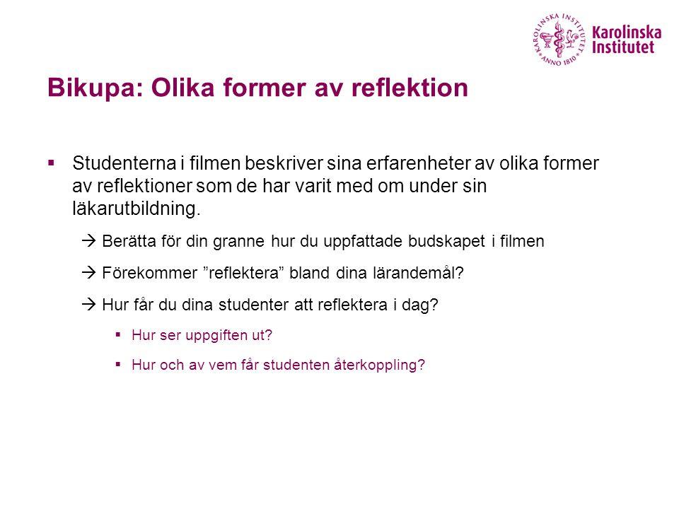 Bikupa: Olika former av reflektion