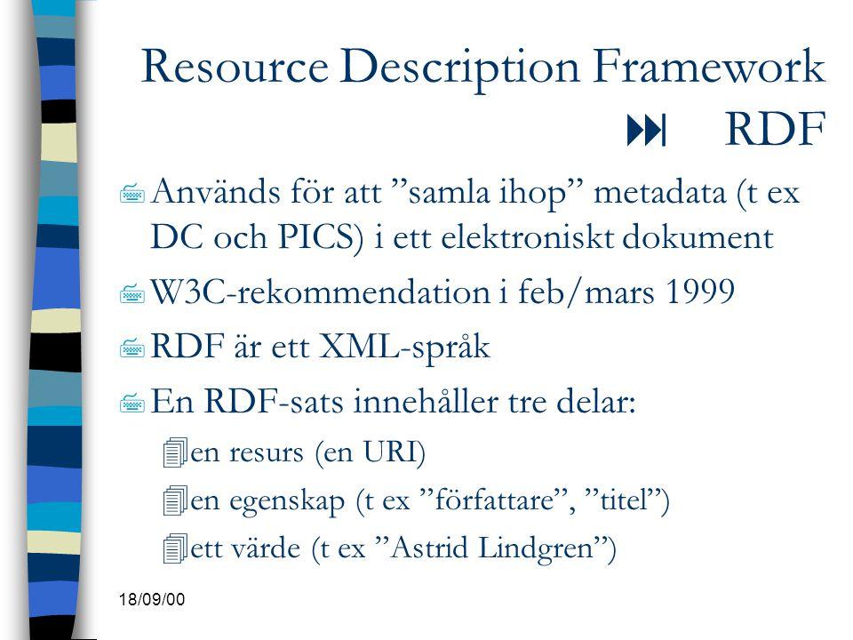 Resource Description Framework  RDF