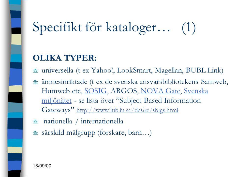 Specifikt för kataloger… (1)