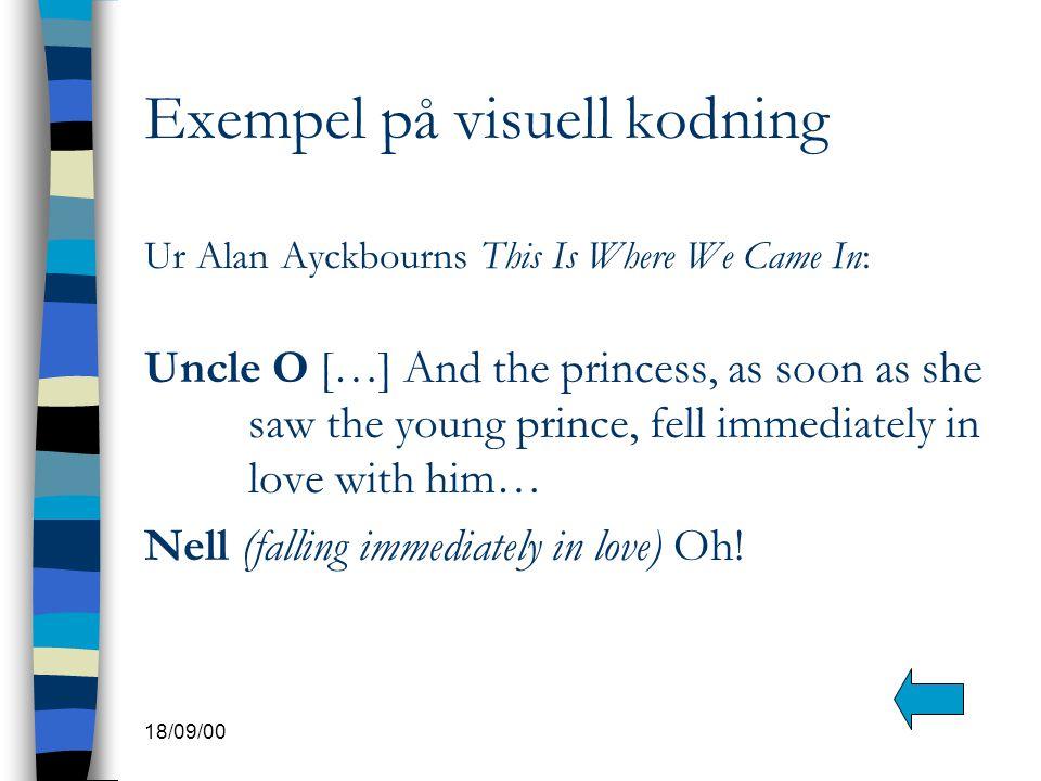 Exempel på visuell kodning