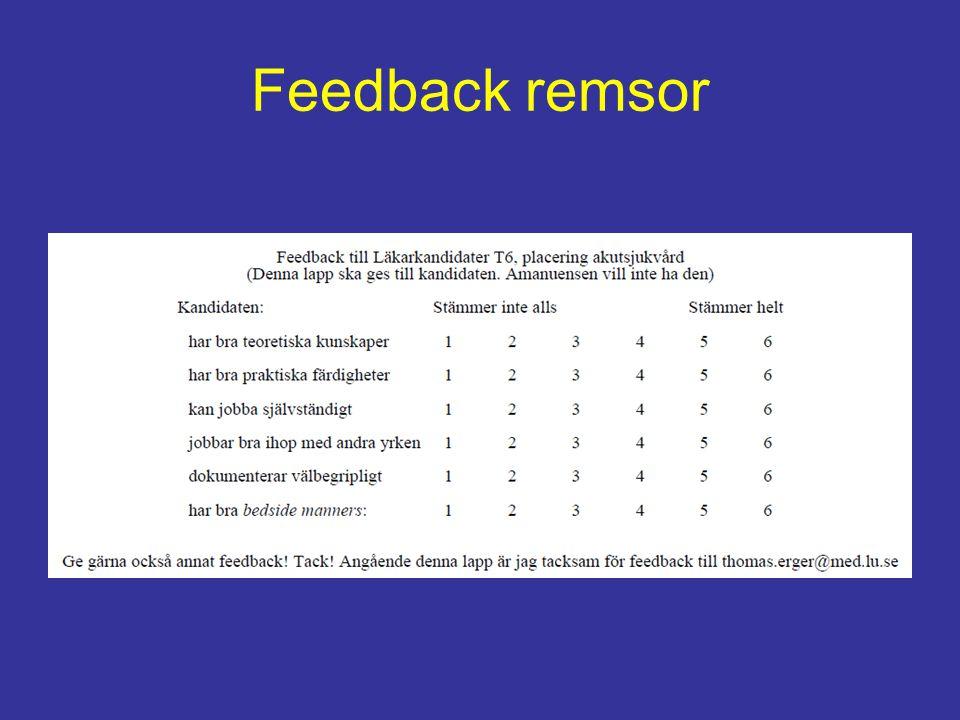 Feedback remsor
