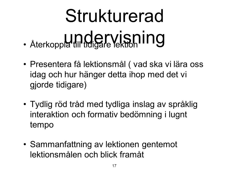 Strukturerad undervisning