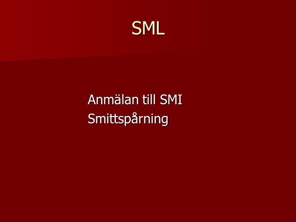 SML Anmälan till SMI Smittspårning