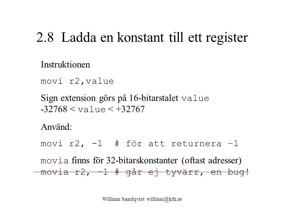 2.8 Ladda en konstant till ett register