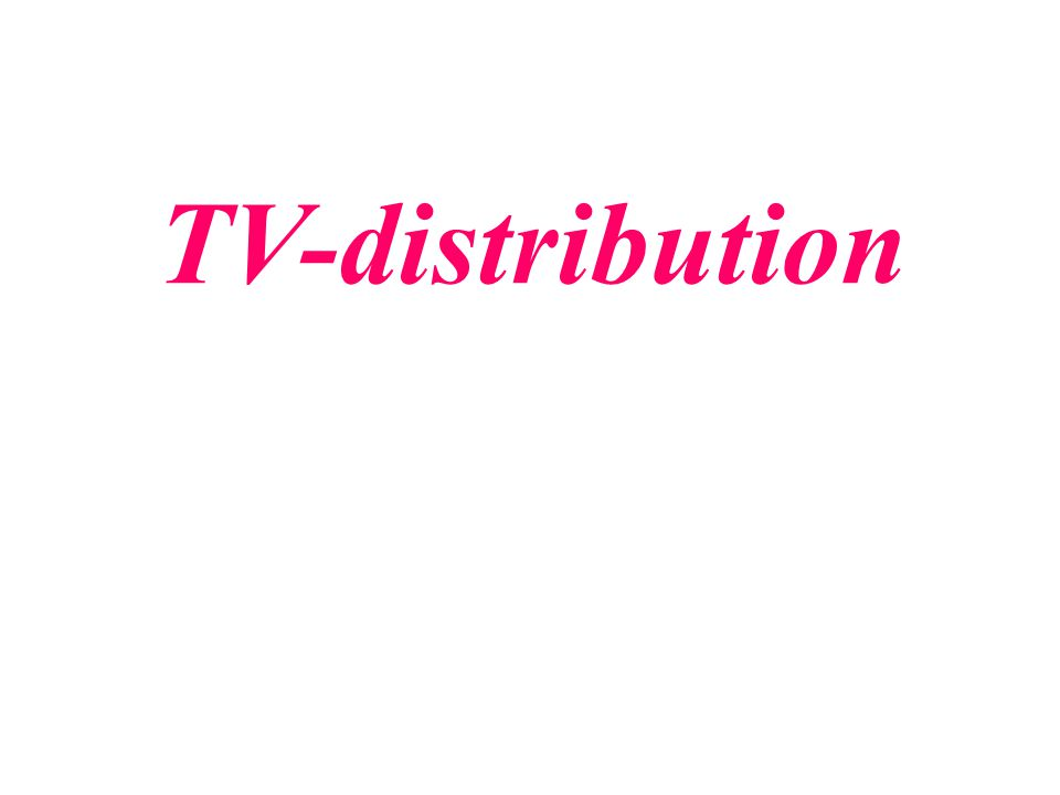 TV-distribution