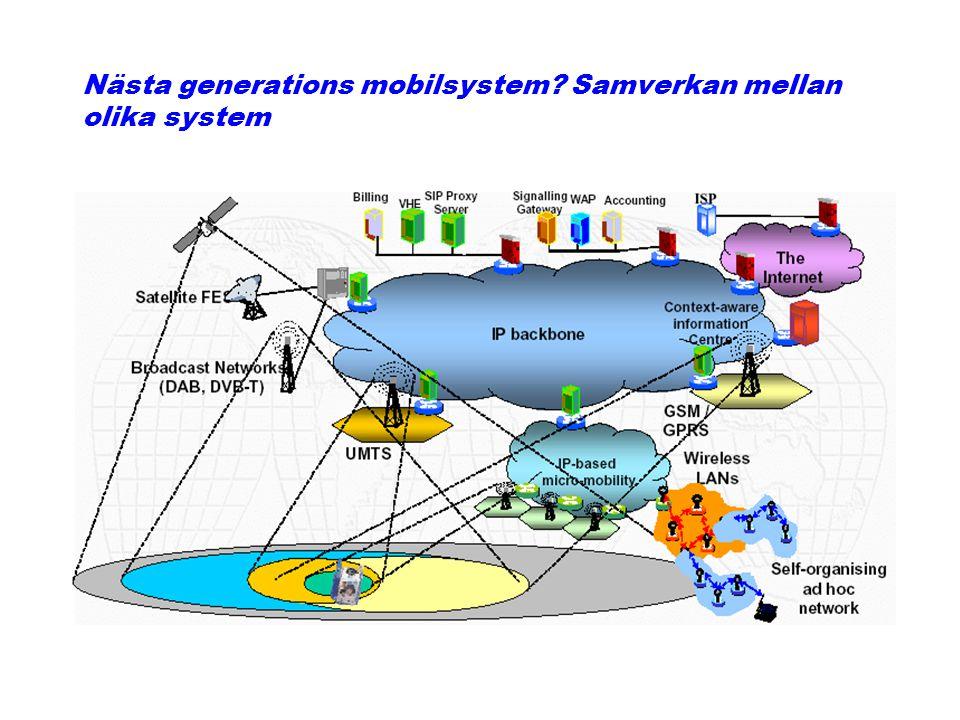Nästa generations mobilsystem Samverkan mellan olika system
