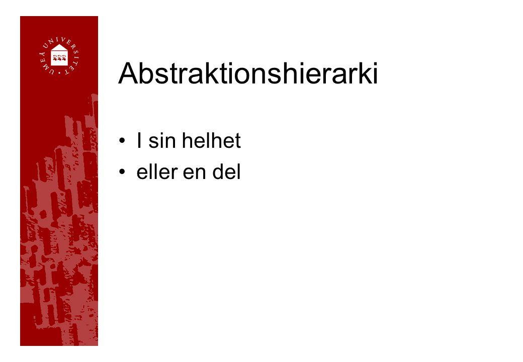 Abstraktionshierarki