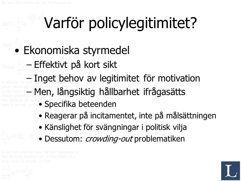 Varför policylegitimitet