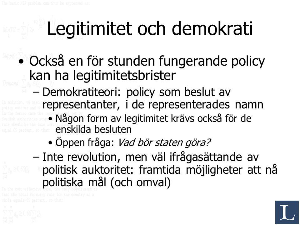Legitimitet och demokrati