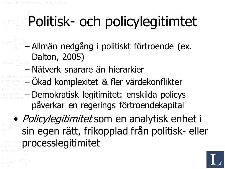 Politisk- och policylegitimtet