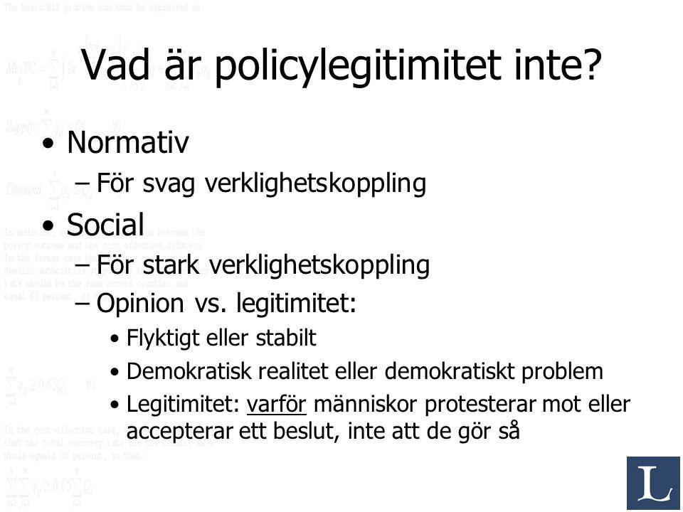 Vad är policylegitimitet inte