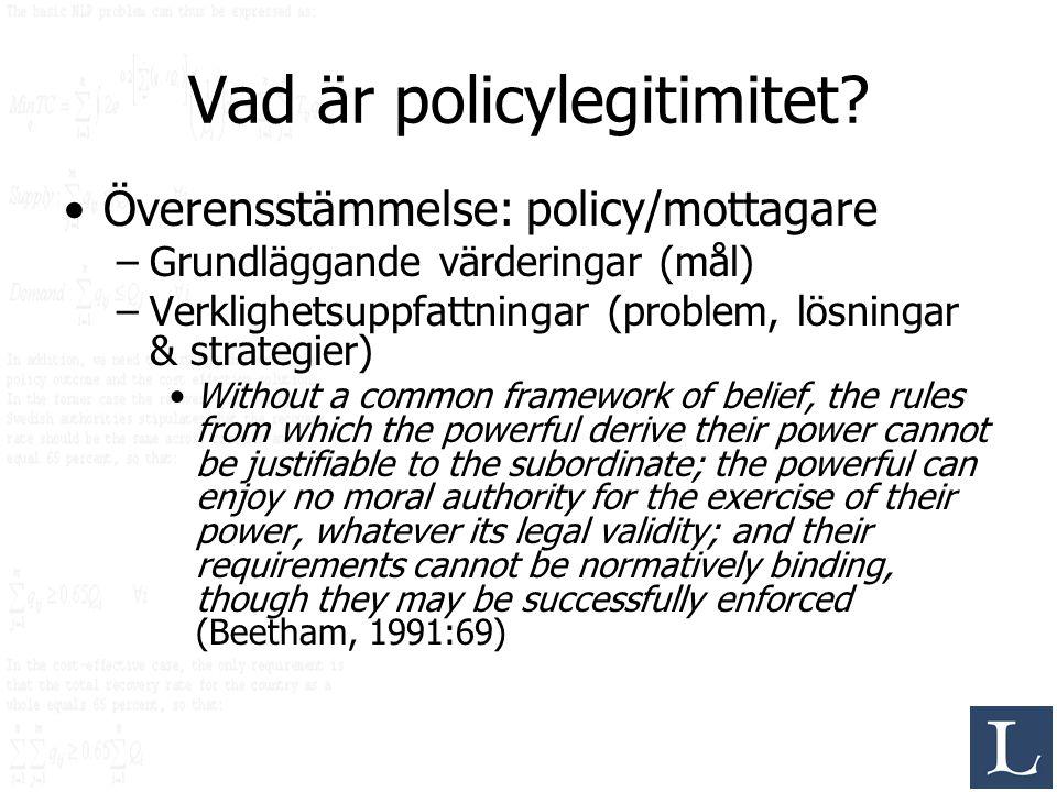 Vad är policylegitimitet